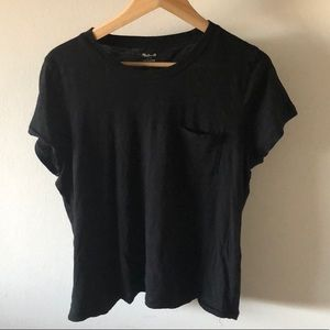Madewell Black T Shirt with Pocket